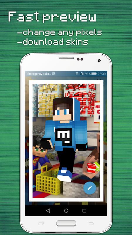 Skins Editor for Minecraft PE (3D) screenshot 4