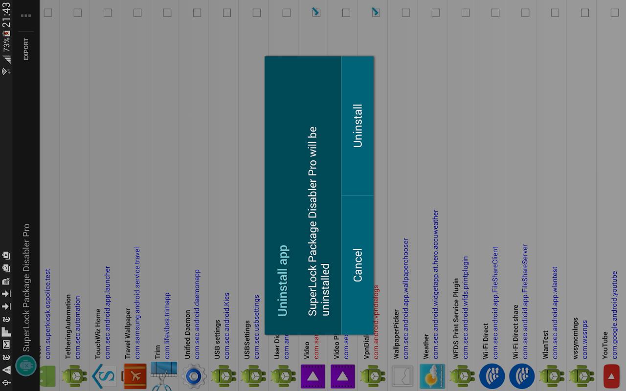 Package Disabler Pro (Samsung) screenshot 1