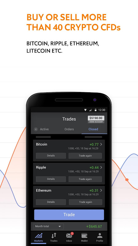 Libertex Online Trading app screenshot 1