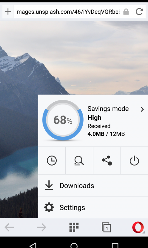 Browser web Opera Mini screenshot 1