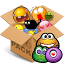 Emoticons pack Monsters Smiley