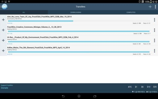 FrostWire - Torrent Downloader screenshot 9