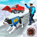US Police Dog Snow Rescue Game