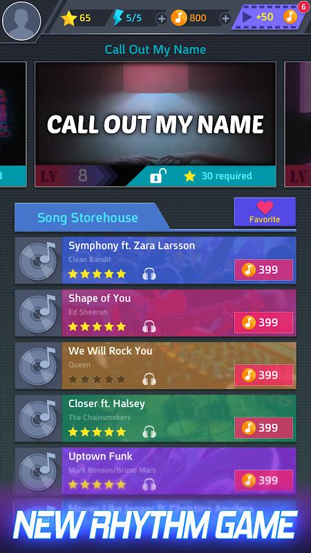 Tap Tap Music-Pop Songs screenshot 1