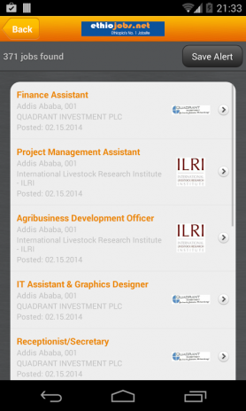 Jobs at Ethiojobs net 1 0 Download APK for Android - Aptoide