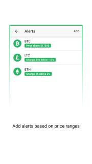 Vertfolio - Cryptocurrency Portfolio App screenshot 6