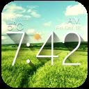 Galaxy weather digital clock