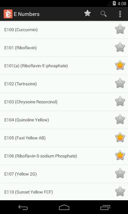 E Numbers (Free) screenshot 1