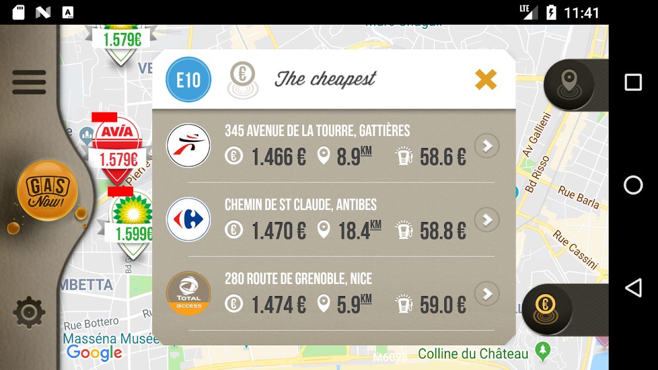 Gas Now - Prices comparator screenshot 1