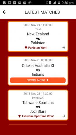 Cricket Now - Live Cricket Score & Match Minutes 6 Download
