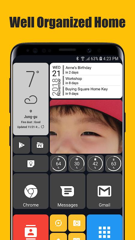 Square Home 3 - Launcher : Windows style screenshot 2