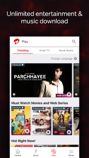 Airtel Thanks - Recharge, Bill Pay, Bank, Play, TV 4 4 5 4 Download