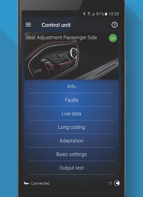OBDeleven PRO car diagnostics app VAG OBD2 Scanner screenshot 3