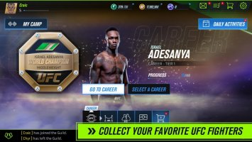 UFC Beta Screen