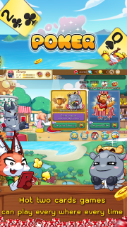 Dummy & Toon Poker Texas slot Online Card Game screenshot 6