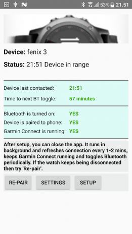 Reconnect Garmin Watch | Legacy Version 1 80L2 Download APK for
