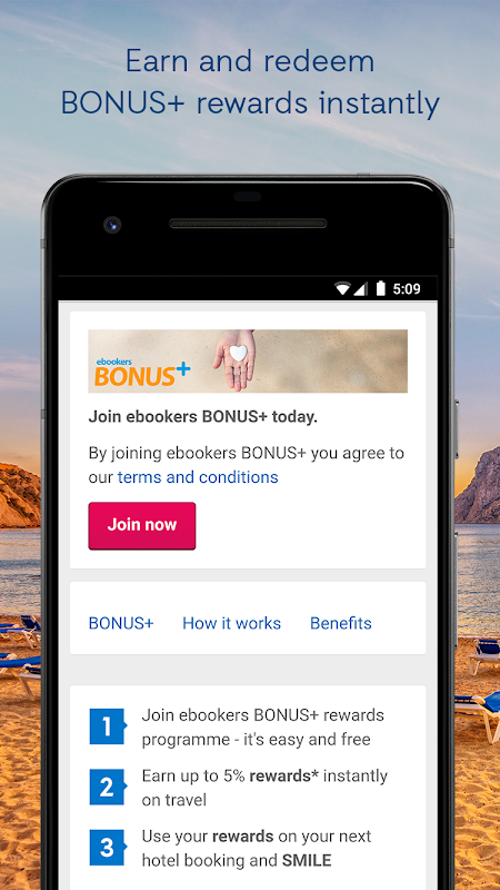 ebookers - Hotels, Flights & Package deals screenshot 2
