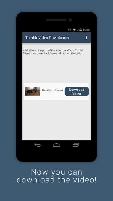 how to download tumblr videos on android