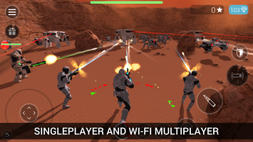CyberSphere: SciFi Shooter Screen