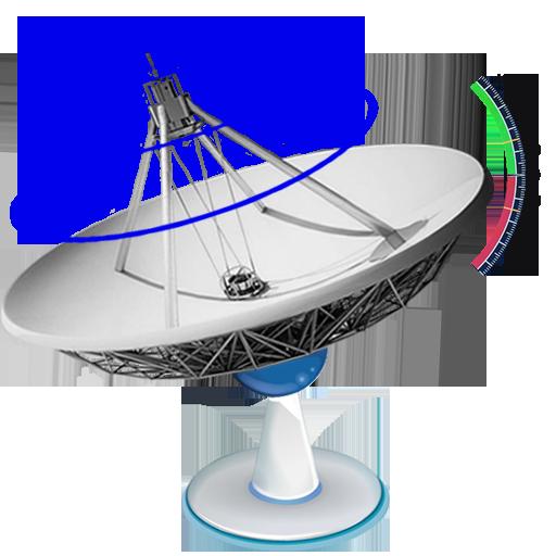 Satfinder (satellite director) with level meter