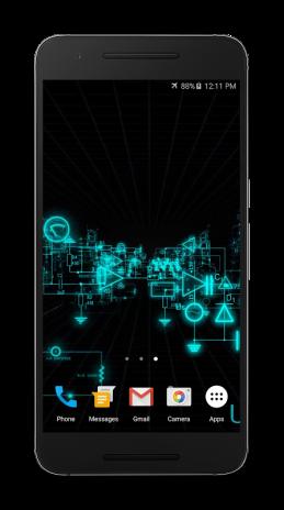 fond décran animé android app