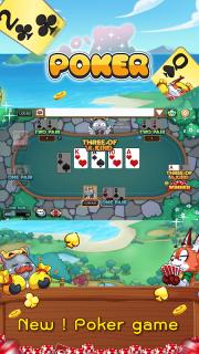 Dummy & Toon Poker Texas slot Online Card Game screenshot 1