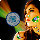 Indian Flag Tattoo on Photo