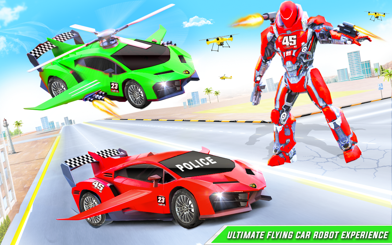 Roblox Flying Cars Game Flying Police Helicopter Car Transform Robot Games 29 Download Android Apk Aptoide