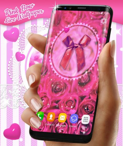 Pink Bow Live Wallpaper 🎀 Wallpapers