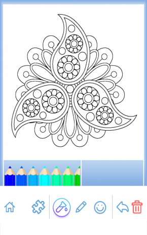 Flower Mandala Coloring Book Screenshot 21