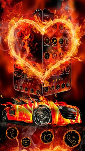 Fire Fast Car Wallpaper Theme For Fast Furious 1 0 Download