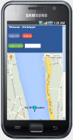 GPS Tracking Google Map Screen