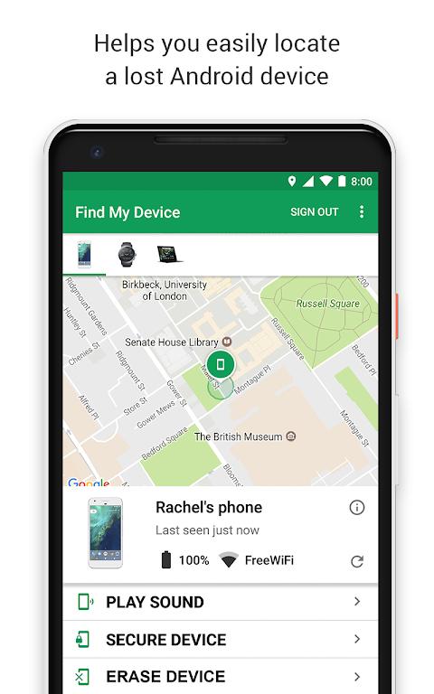 Find My Device screenshot 1