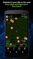 radarbot free speed camera detector speedometer screenshot 3