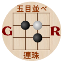 Gomoku Renju free puzzle five in a row tic tac toe
