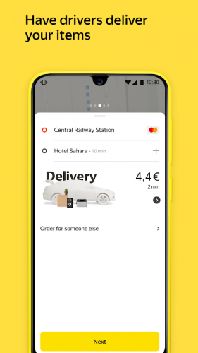 Yandex Go — taxi and delivery screenshot 3