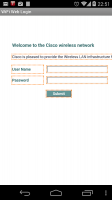 WiFi Web Login Screen
