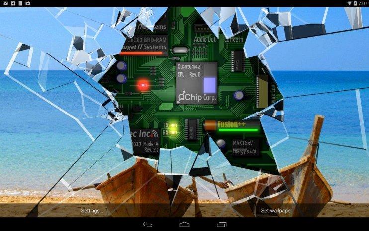 Cracked Screen Gyro 3d Parallax Wallpaper Hd Screenshot 2