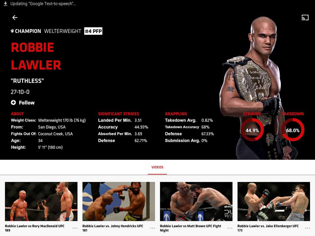 UFC screenshot 1
