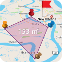 Live GPS Area&Distance,Land Measurement,Satellite
