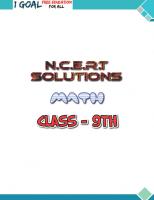 Class 9th Math NCERT Solutions Screen