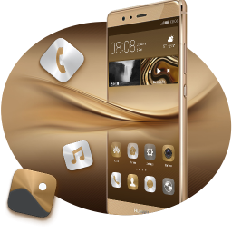 theme for huawei p8 p10 gold wallpaper icon pack 1 0 3. Black Bedroom Furniture Sets. Home Design Ideas