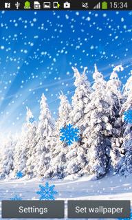 Snowfall Live Wallpapers screenshot 4