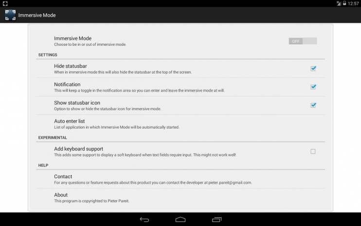 Immersive Full-Screen Mode 1 14 5 Download APK for Android