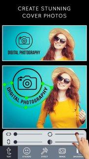 Cover Photo Maker - Banners & Thumbnails Designer screenshot 1