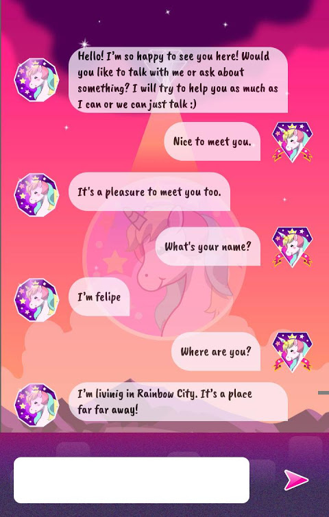 Talking Unicorn (Chat) screenshot 1