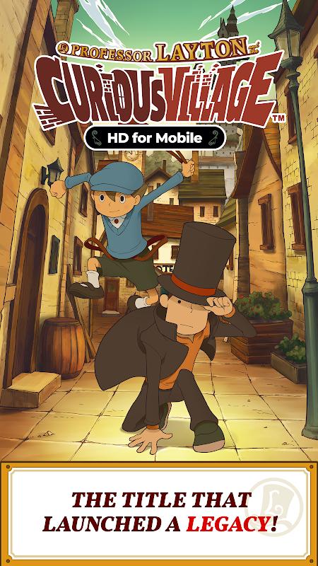 Layton: Curious Village in HD screenshot 1