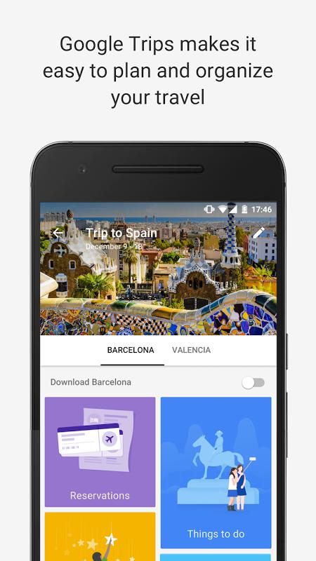 Google Trips - Planeador de viagens screenshot 1