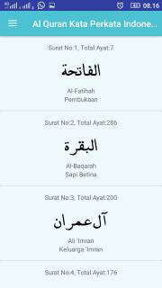تحميل APK لأندرويد - آبتويد Al Quran Terjemah Kata Perkata Indonesia