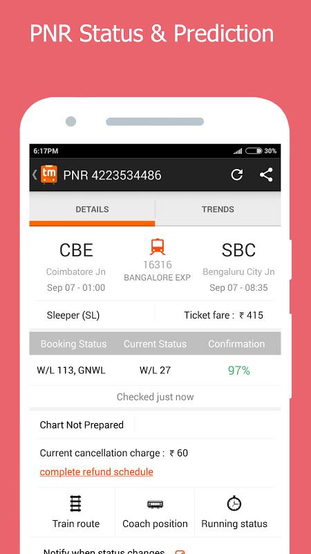 PNR Status, Train Running Status & Ticket Booking 8 14 2 0 Download